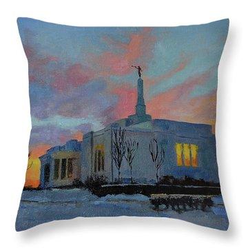 Palmyra Temple At Sunset Throw Pillow