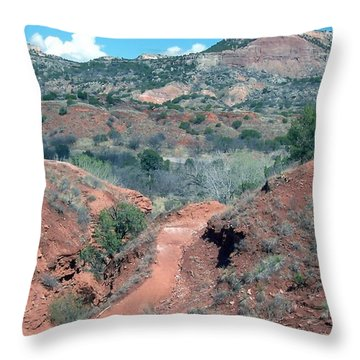 Palo Duro Canyon Throw Pillow