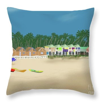 Palolem Beach Goa Throw Pillow