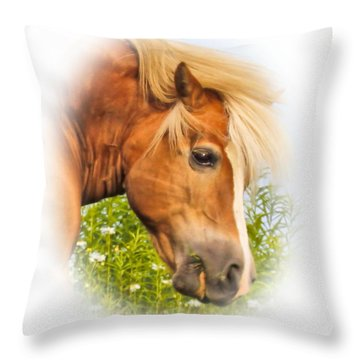 Throw Pillow featuring the photograph Palomino Head by Debbie Stahre