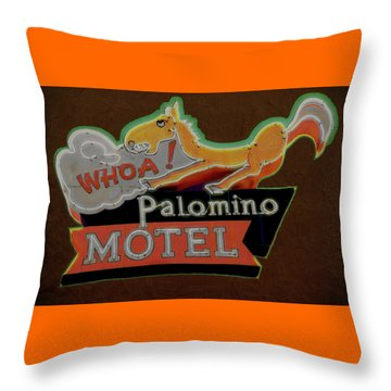 Throw Pillow featuring the photograph Palomino Motel by Jeff Burgess