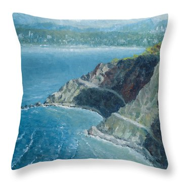 Palos Verdes Autumn Morning, No. 1 Throw Pillow