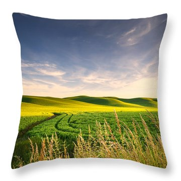 Throw Pillow featuring the photograph Palouse Bounty by Dan Mihai