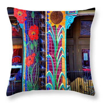 Palouse Cafe Throw Pillow by David Patterson