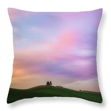 Palouse Cirrus Rainbow Throw Pillow