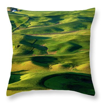 Palouse Contours Throw Pillow by Mike  Dawson