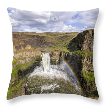 Throw Pillow featuring the photograph Palouse Falls by Albert Seger