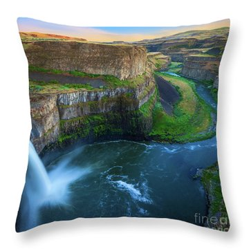 Palouse Falls Pool Throw Pillow by Inge Johnsson