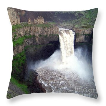 Palouse Falls - The Official Washington State Waterfall Throw Pillow