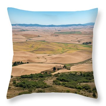 Palouse I Throw Pillow