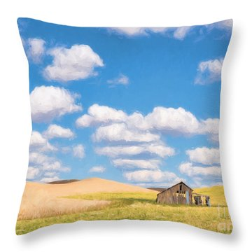 Palouse Barn Throw Pillow