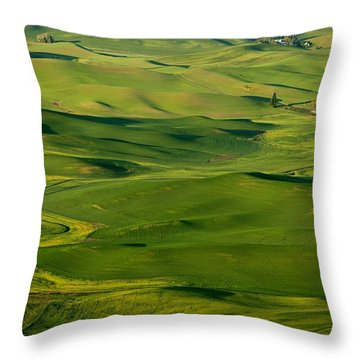 Palouse Spring Throw Pillow by Mike  Dawson