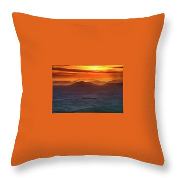 Palouse Sunrise  Throw Pillow by Ronald Spencer