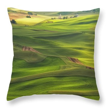 Palouse Views Throw Pillow by Patricia Davidson