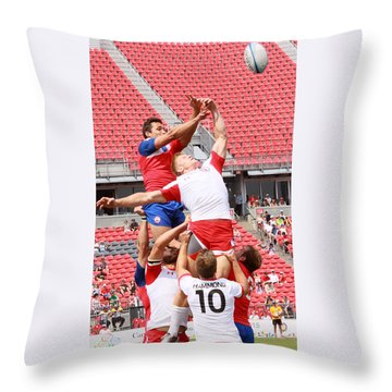 Pamam Games Men's Rugby 7's Throw Pillow