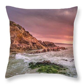Pambula Rocks Throw Pillow