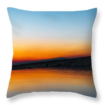 Pammukale Throw Pillow by Yuri Santin