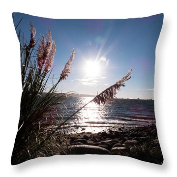 Pampas By The Sea Throw Pillow