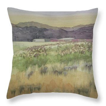 Pampas Grass Throw Pillow by Bethany Lee