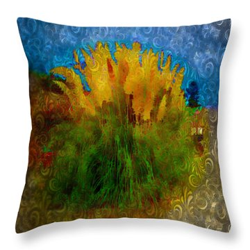 Pampas Grass Throw Pillow by Iowan Stone-Flowers