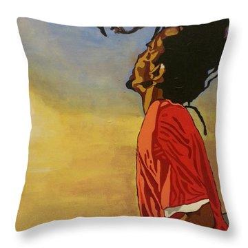 Pan Rising Throw Pillow