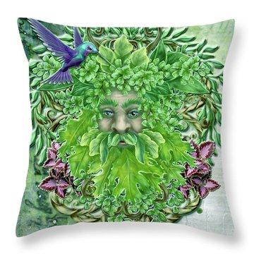 Pan The Protector Throw Pillow