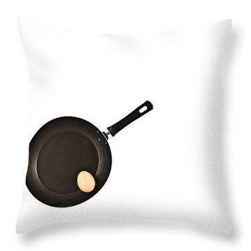 Pan With Egg Throw Pillow