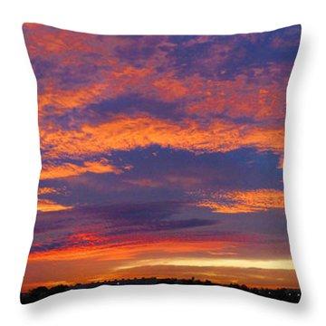 Pana 53rd Ave Sunrise Throw Pillow