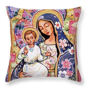 Panagia Eleousa Throw Pillow
