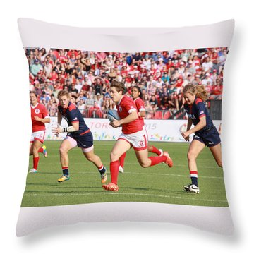 Panam Games. Womens' Rugby 7's Throw Pillow