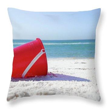 Panama Beach Florida Sandy Beach Throw Pillow