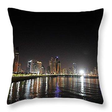 Panama City Night Throw Pillow