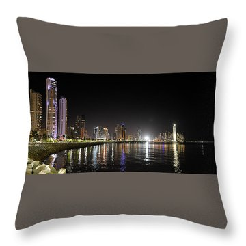Panama City Night Throw Pillow