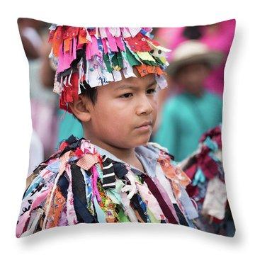 Panamanian Boy In Traditonal Costume Throw Pillow