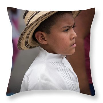 Panamanian Boy Throw Pillow