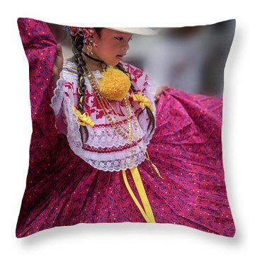 Panamanian Dancer 1 Throw Pillow