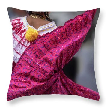 Panamanian Dancer 2 Throw Pillow