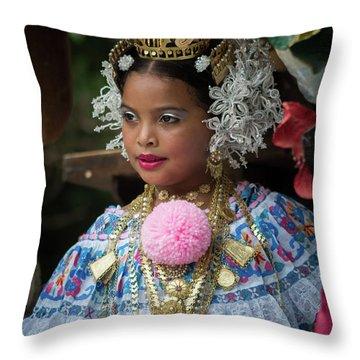 Panamanian Queen Of The Parade Throw Pillow