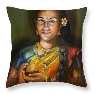 Panchali Throw Pillow