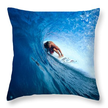Pancho In The Tube Throw Pillow by Vince Cavataio - Printscapes