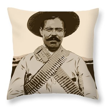 Pancho Villa Throw Pillow