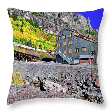 Pandora Mill - Telluride - Colorful Colorado Throw Pillow by Jason Politte