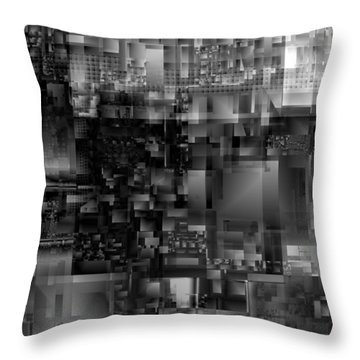 Panels In Grey Throw Pillow
