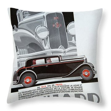 Panhard #8703 Throw Pillow