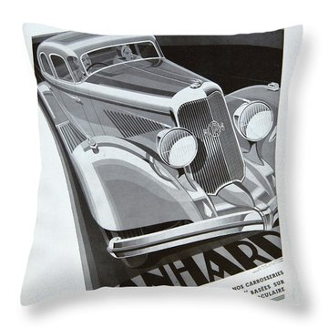 Panhard #8710 Throw Pillow