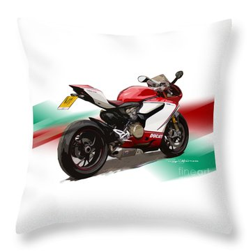 Panigale S Throw Pillow