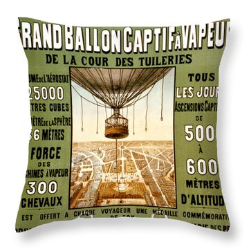 Panorama De Paris Throw Pillow