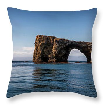 Throw Pillow featuring the photograph Panorama Of Anacapa Rocks by Endre Balogh