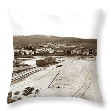 Watkins Panorama Of Monterey, California 1882 Throw Pillow by California Views Mr Pat Hathaway Archives