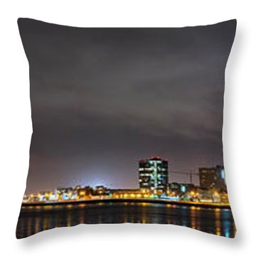 Panorama Of Reykjavik Iceland Throw Pillow